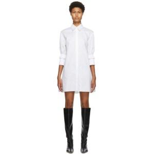 Victoria Victoria Beckham White Ruffle Cuff Shirt Dress