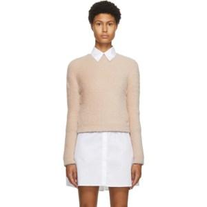 Victoria Victoria Beckham Pink Button Back Sweater