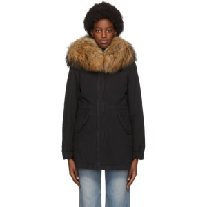 Mr and Mrs Italy Black Down New York Parka
