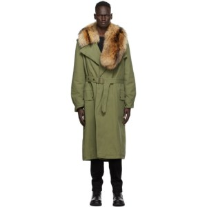 Mr and Mrs Italy Khaki Nick Wooster Edition Trench Coat