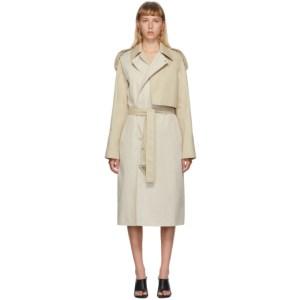 Bottega Veneta Beige Deconstructed Twill Coat