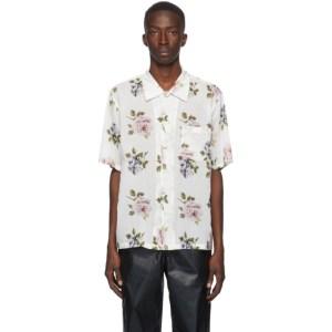 Our Legacy White Rose Print Box Short Sleeve Shirt