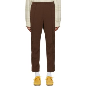 Needles Brown Doeskin Warm-Up Track Pants