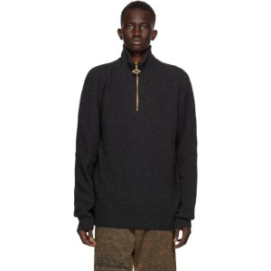 Han Kjobenhavn Black Half-Zip Turtleneck