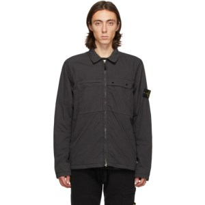 Stone Island Grey Pockets Overshirt Jacket