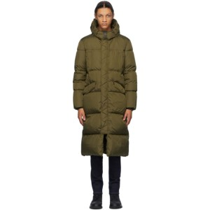 Herno Khaki Down Long Stadium Coat