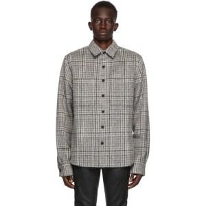 Faith Connexion SSENSE Exclusive Grey Wool and Mohair Checkered Shirt