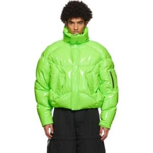 Chen Peng Green Down Puffer Jacket