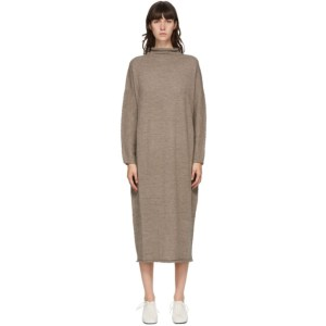 Lauren Manoogian Brown Oversize Rollneck Dress
