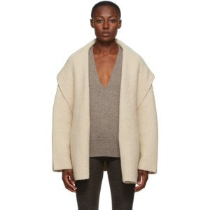Lauren Manoogian Taupe Alpaca Double Face Jacket