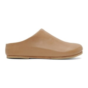 Lauren Manoogian Beige Leather Mono Mule