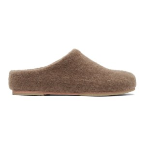 Lauren Manoogian Brown Alpaca Mono Mule Slippers