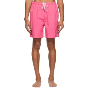 Solid and Striped Pink The California Swim Shorts