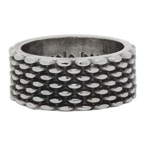 Emanuele Bicocchi Silver Decorated Band Ring