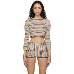 Missoni Multicolor Striped Long Sleeve T-Shirt