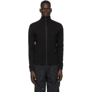 A-COLD-WALL* Black Wool Rhombus Zip-Up Jacket