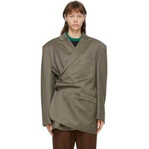Martine Rose Brown Turnmills Oversized Twist Jacket