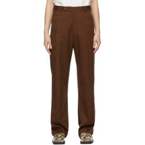 Martine Rose Brown Slate Trousers