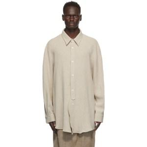 Hed Mayner Off-White Linen Raglan Shirt