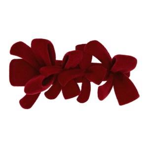 Shushu/Tong Red YVMIN Edition 3-Bow Hair Clip