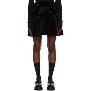 Shushu/Tong Black Velvet Double Layer Skirt