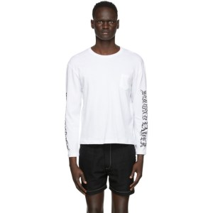 Second/Layer White Long Sleeve T-Shirt