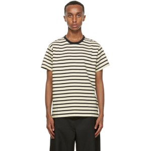 Second/Layer Black and Off-White Essential Ringer T-Shirt