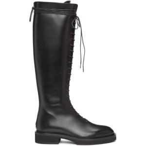 Khaite Black The York Tall Boots