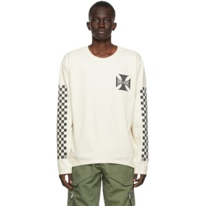 Rhude Off-White Classic Checkers Long Sleeve T-Shirt