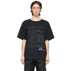 Rhude Black Script Phrase T-Shirt