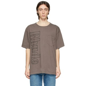 Rhude Grey Logo Pocket T-Shirt