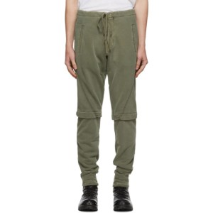 Greg Lauren Green Layered Sweatpants