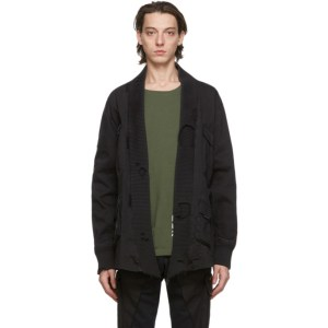 Greg Lauren Black Paul and Shark Edition Tactical Kimono Shirt