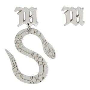 MISBHV Silver Lilith Edition Asymmetric Snake Earrings