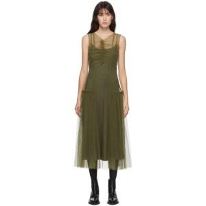 Molly Goddard SSENSE Exclusive Khaki Nova Dress