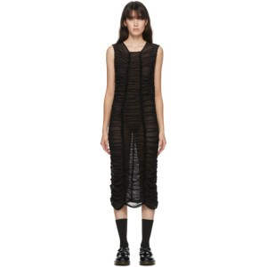 Molly Goddard SSENSE Exclusive Black Mesh Elisa Dress