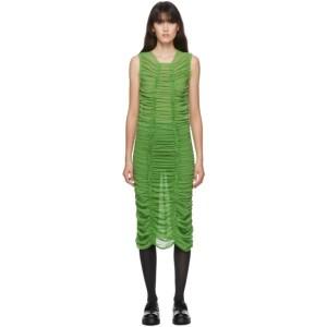Molly Goddard SSENSE Exclusive Green Mesh Elisa Dress