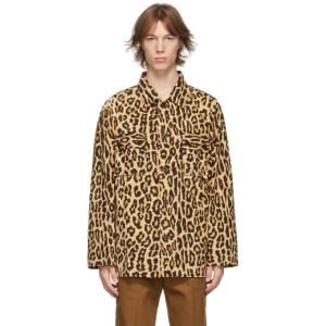 WACKO MARIA Beige Leopard Army Shirt