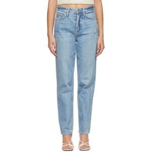 Grlfrnd Blue Distressed Devon Jeans