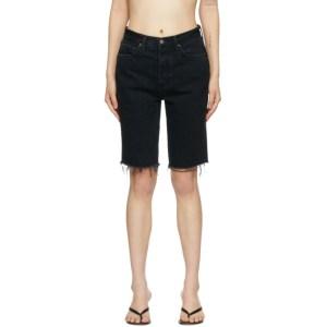 Grlfrnd Black Denim Beverly Shorts