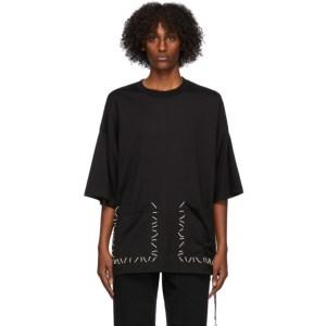 mastermind WORLD Black Boxy Hand Stitched T-Shirt