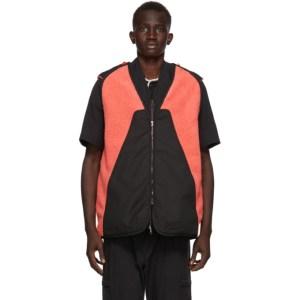Kiko Kostadinov Pink and Black Nash Vest