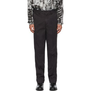 Schnaydermans Black Overdyed Trousers