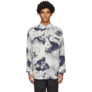 Schnaydermans Blue and White Boxy Cloud Shirt