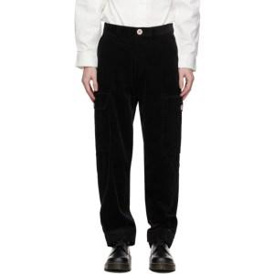 Landlord Black Corduroy Cargo Pants