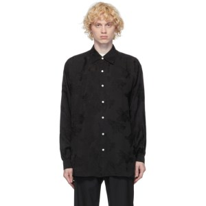 HOPE Black Jacquard Tale Shirt