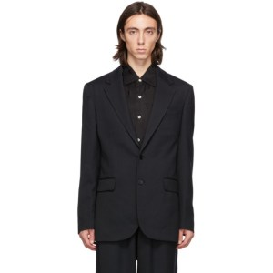 HOPE Black Wool Bolt Blazer