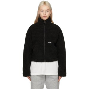 Nike Black Sherpa Swoosh Jacket