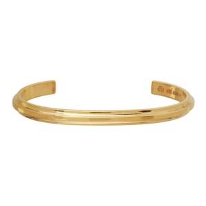 All Blues Gold Polished Beam Cuff Bracelet