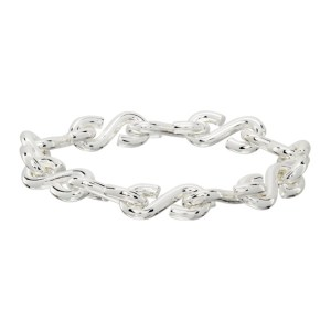 All Blues Silver Polished S Bracelet